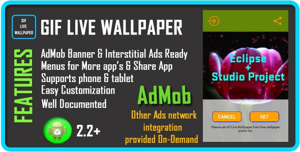 GIF Live Wallpaper with AdMob - CodeCanyon Item for Sale