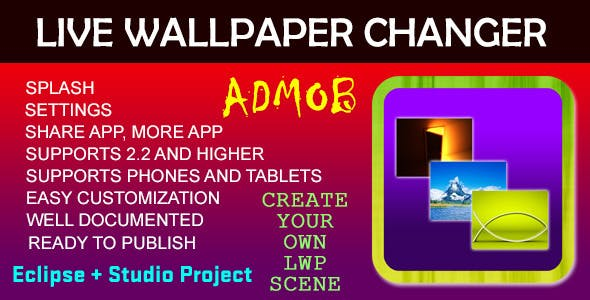 Live Wallpaper Changer - AdMob