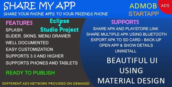 SHARE MY APP - Full Application - Admob/StartApp - CodeCanyon Item for Sale