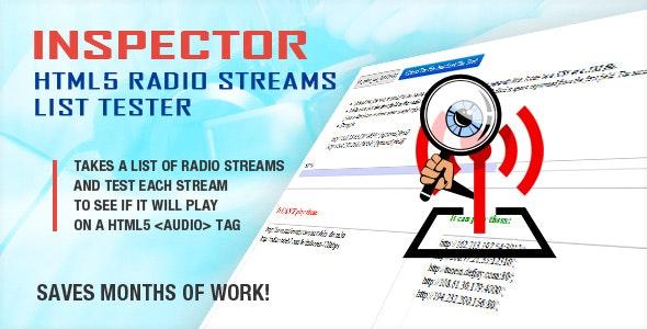 Inspector - HTML5 Radio Streams List Tester - CodeCanyon Item for Sale