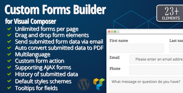 Custom Forms Builder for Visual Composer by morfi | CodeCanyon