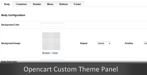 Custom Themes Panel Opencart Module