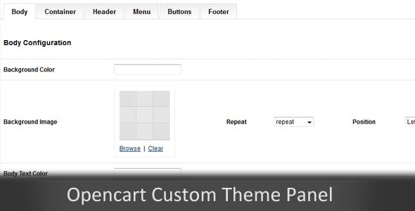 Custom Themes Panel Opencart Module