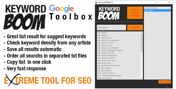 Keyword BOOM - Suggest & Density Professional Tool