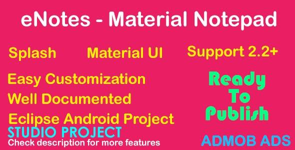 eNotes - Material UI - AdMob