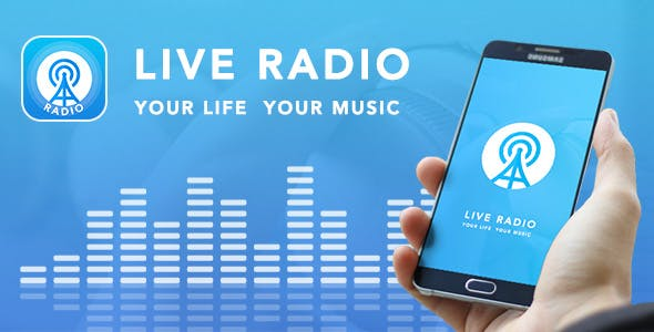 Live Radio with material design