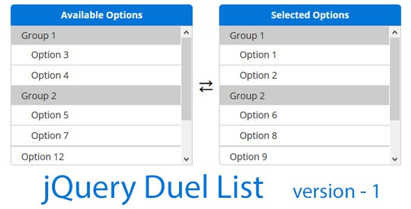 jQuery Dual List
