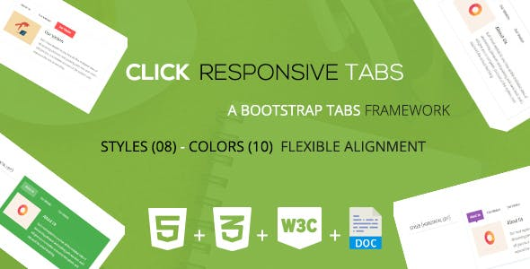 Click - A Responsive Bootstrap Tabs