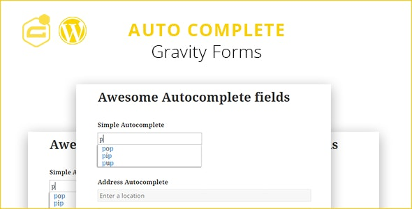 Gravity Forms Auto Complete (+address field) by ma-group | CodeCanyon