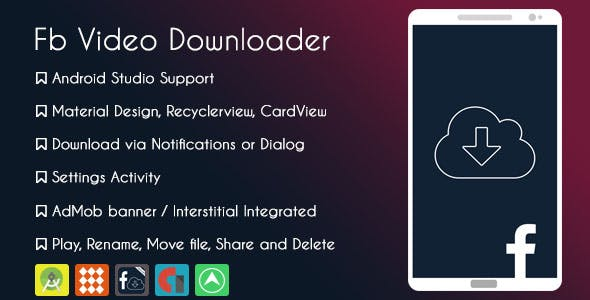 Facebook Video Downloader Pro - AdMob & GDPR