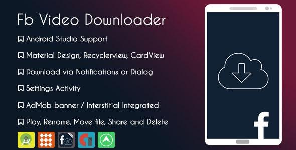 Facebook Video Downloader Pro - AdMob & GDPR - CodeCanyon Item for Sale