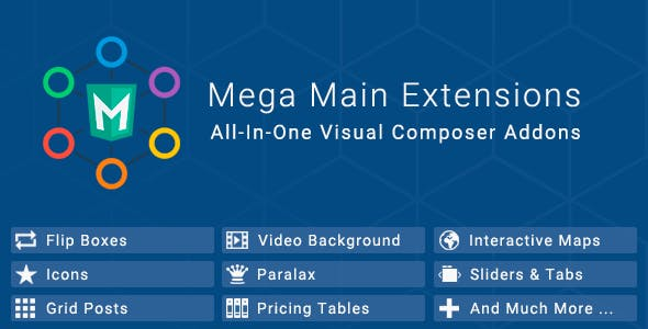 Mega Main Extensions - All-in-one Visual Composer Addons