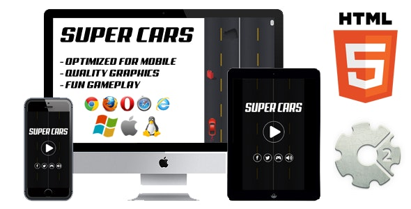 Super Cars - HTML5 Casual game (CAPX included) - CodeCanyon Item for Sale