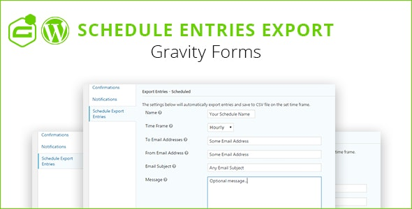 Gravity Forms Schedule Entries Export - CodeCanyon Item for Sale