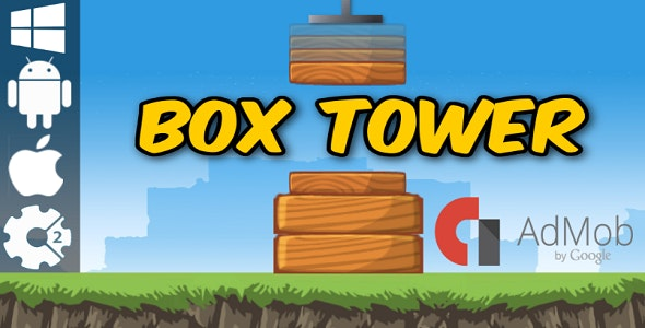 Box Tower - HTML5 Game + Admob (Construct 2 - CAPX) - CodeCanyon Item for Sale