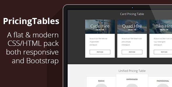 7 Responsive Flat Bootstrap Pricing Tables (Now with Color Picker) - CodeCanyon Item for Sale