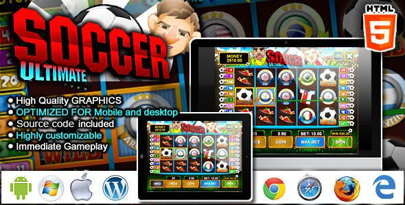 Slot Machine Ultimate Soccer - HTML5 Casino Game