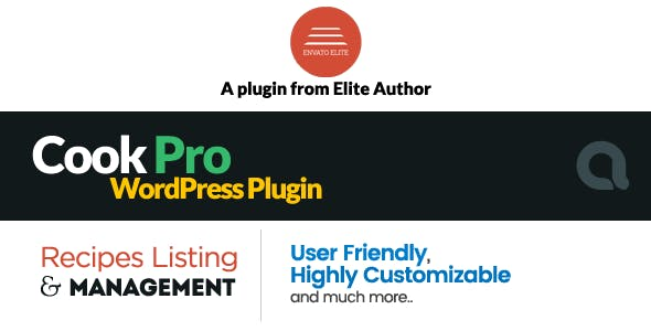 Cook Pro - Recipe Listing WordPress Plugin