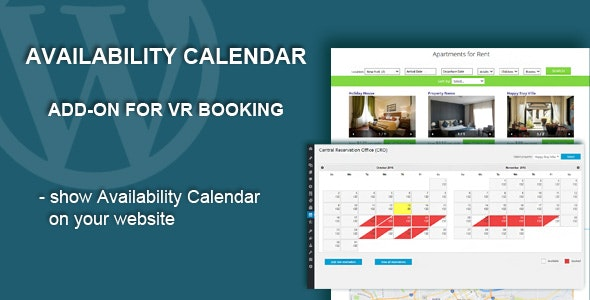 Availability Calendar Add-on - CodeCanyon Item for Sale