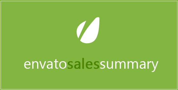 Envato Sales Summary Plugin