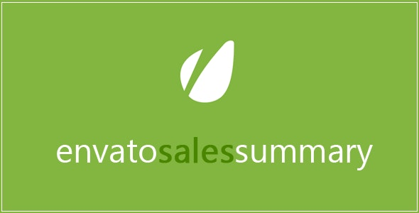 Envato Sales Summary Plugin - CodeCanyon Item for Sale