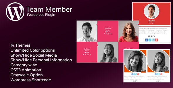 JAG Interactive Team Members WordPress Plugin - CodeCanyon Item for Sale