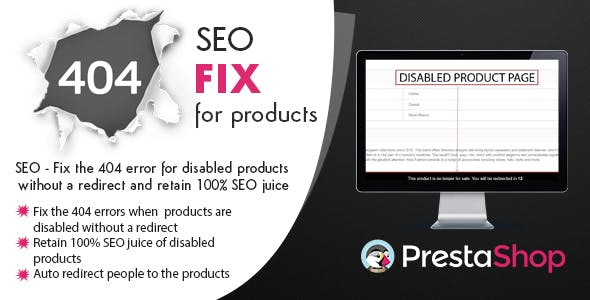 Prestashop 404 Fix for disabled Products