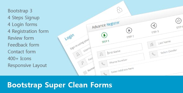 Bootstrap Super Clean Forms