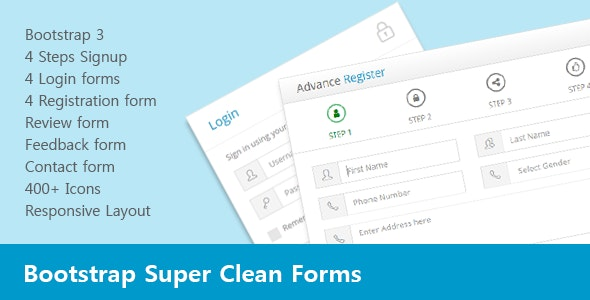 Bootstrap Super Clean Forms - CodeCanyon Item for Sale