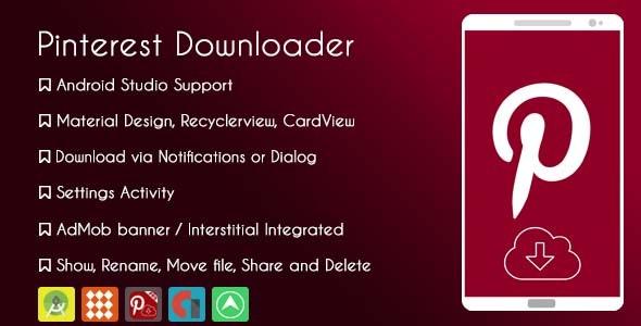 Pinterest Downloader 2019 - AdMob & GDPR - CodeCanyon Item for Sale