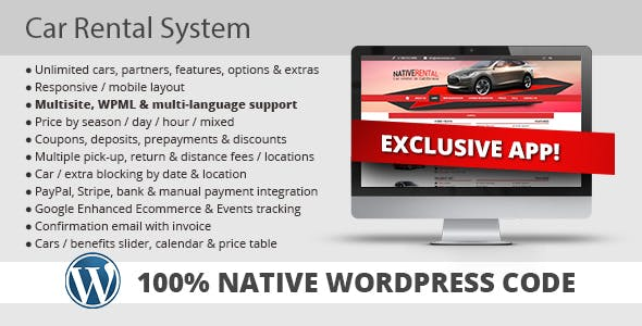 Car Rental System (Native WordPress Plugin)