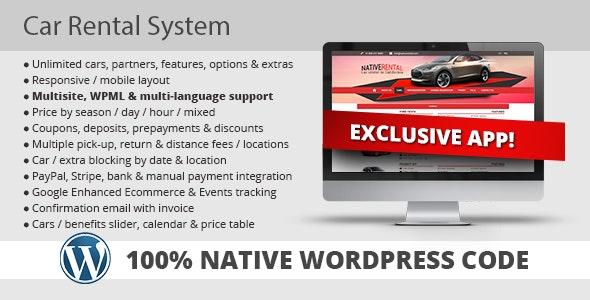 Car Rental System (Native WordPress Plugin) by KestutisIT