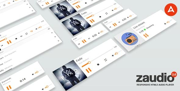 Zaudio - HTML5 JavaScript Audio Player - CodeCanyon Item for Sale