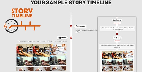 Sample Story TIMELINE - CodeCanyon Item for Sale
