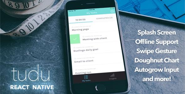 Tudu - A React Native todo-list by GuilhermePontes | CodeCanyon
