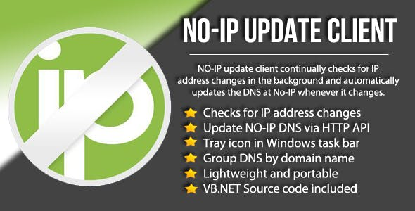 No-IP DNS Update Client + Source Code
