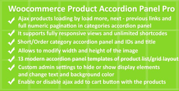 Woocommerce Product Accordion Panel Pro