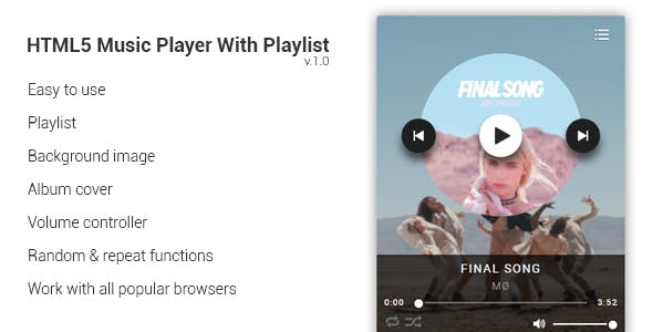 HTML5 Music Player With Playlist