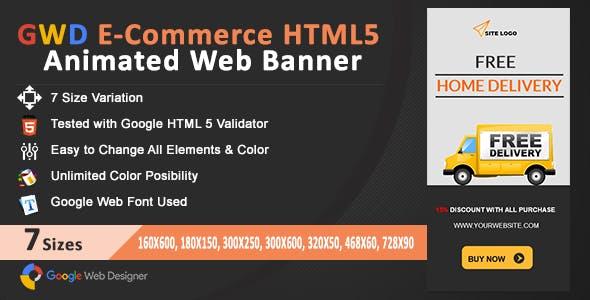 GWD E-Commerce HTML5 Animated Web Banner