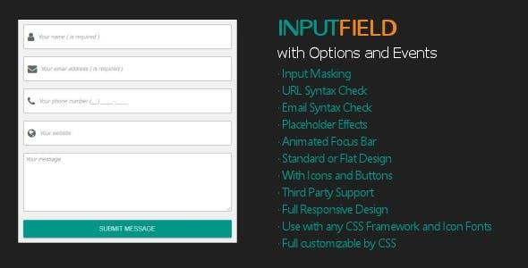 InputField - Modern Responsive Input Field