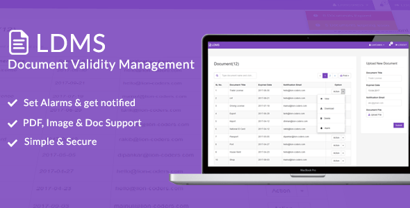 LDMS -  Document Validity Manager - CodeCanyon Item for Sale