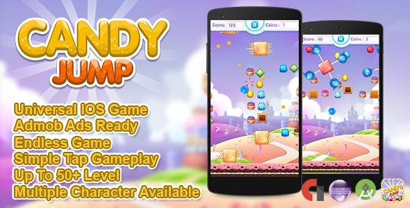 Candy Jump IOS XCODE Source Admob + Multiple Characters - CodeCanyon Item for Sale