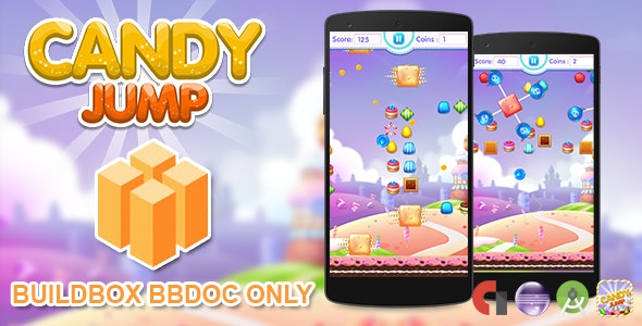 Candy Jump Buildbox 2.2.8 Project (BBDOC Only) - CodeCanyon Item for Sale