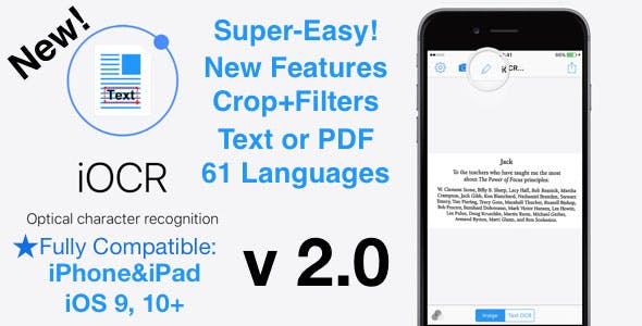iOCR | iOS Optical Character Recognition Application