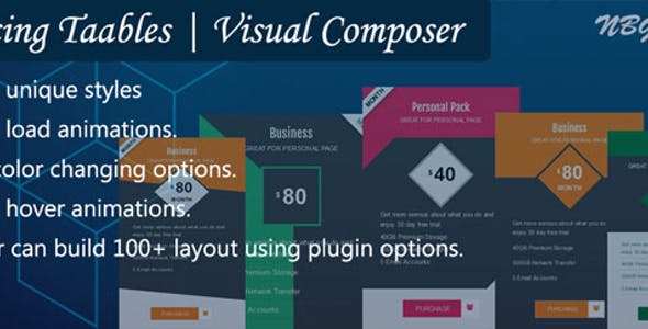 Visual Composer | Pricing Tables By NBGoyani