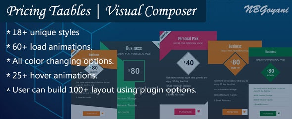 Visual Composer | Pricing Tables By NBGoyani - CodeCanyon Item for Sale