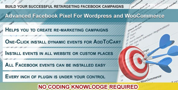 Wordpress Facebook Pixel Plugin for Wordpress and WooCommerce