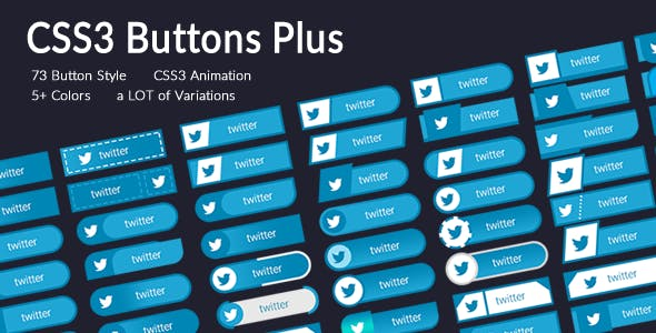 CSS3 Buttons Plus: Vol.1