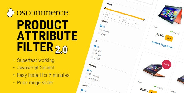 Product Attribute Filter 2.2 for osCommerce - CodeCanyon Item for Sale