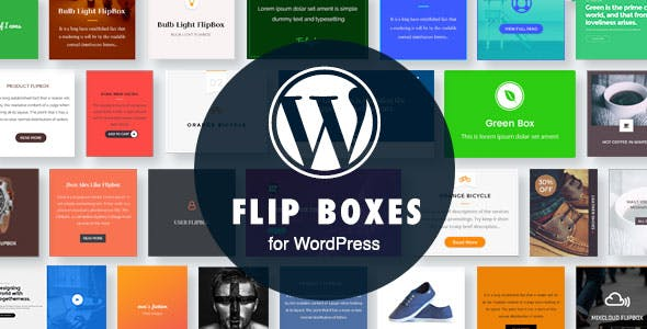 WordPress Flip Boxes Plugin with Layout Builder
